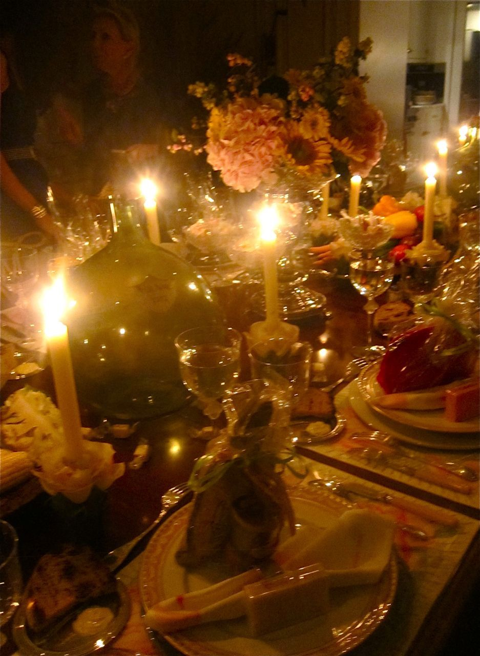 The dazzling birthday table.