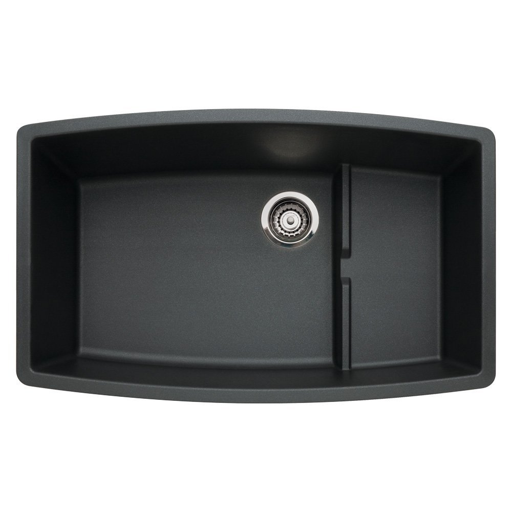 Blanco Silgranit Anthracite Sink : ... about Blanco 440064 Performa Silgranit II Cascade Sink, Anthracite