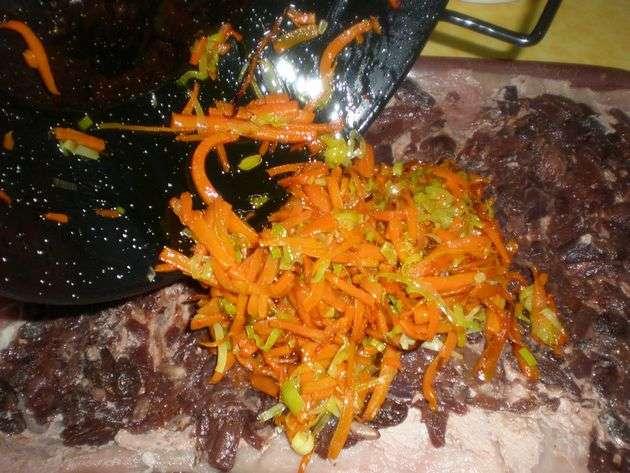 aadirverdura1 - ▷ Cinta de lomo rellena de Salsa de frutos secos en reducción de vino tinto  