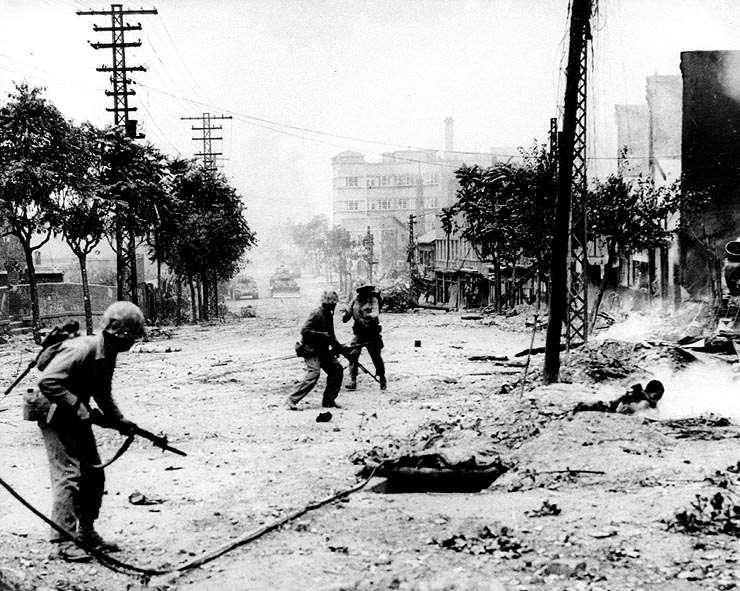 Guerra da Coreia - Soldados em Seul