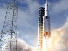 Artist concept of the NASA Space Launch<br /> System initial crew vehicle launching<br /> from the Kennedy Space Center. (NASA)<br /> <a href='http://www.nasa.gov/exploration/systems/sls/multimedia/gallery/sls_ground.html' class='bbc_url' title='External link' rel='nofollow external'>View large image</a>