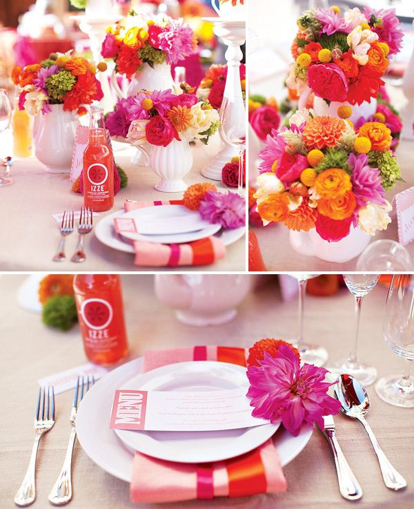 Hey Look Colorful Wedding Inspiration Table Settings