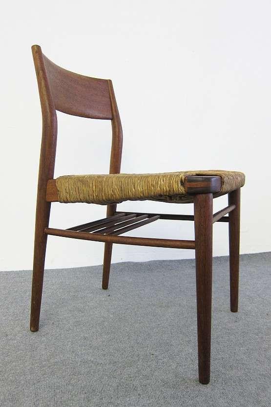 4 teak st hle design georg leowald f r wilkhahn 50er 60er jahre original ebay. Black Bedroom Furniture Sets. Home Design Ideas