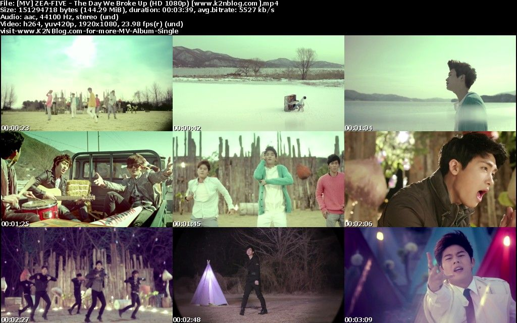 [MV] ZE:A-FIVE - The Day We Broke Up [HD 1080p Youtube]